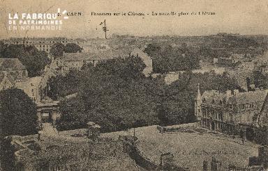 cl 01 080 Caen panorama sur le château - la nouvelle place du château