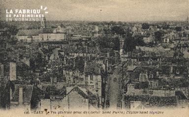 cl 01 092 Caen- vue générale pris du clocher St-pierre; L'église St sé