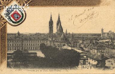 cl 01 097 Caen - panorama prise du vieux St-Etienne
