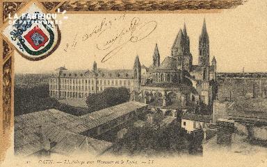 cl 01 098 Caen- l'abbaye aux homme et le lycée