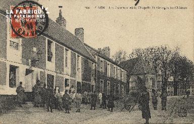 cl 01 128 Caen les casernes et la chaêlle St-Georges au château