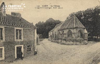 cl 01 129 Caen- le château, chapelle St-georges (XIII siècle)