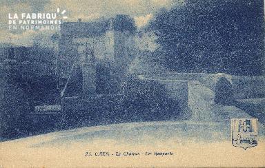 cl 01 161 Caen-le château- les remparts