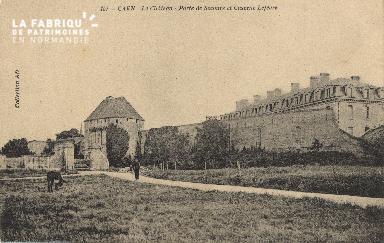 cl 01 162 Caen-le château- porte de secours et la caserne Lefèvre