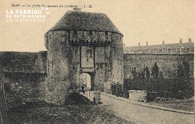cl 01 163 Caen- la porte de secours du château