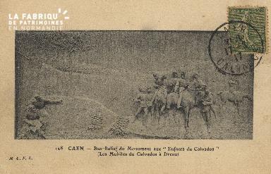 cl 01 193 Caen - Bas-relief du monument aux enfants du calvados (les m