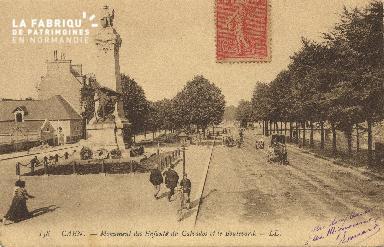 cl 01 196  Caen- monument des enfants du calvados et le boulevard