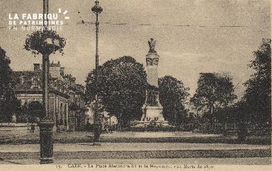 cl 01 197 Caen- place Alexandre III et le monument aux morts de 1870