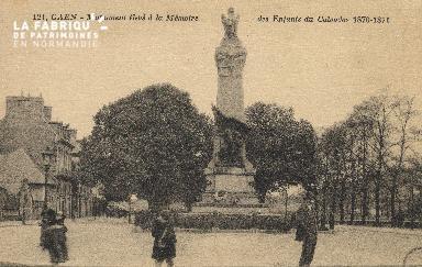 cl 01 198 Caen - monument élevé à la mémoire des enfantsdu calvados