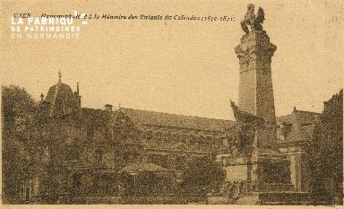 cl 01 200 Caen- monument élevé à la mémoire des enfants du calvados