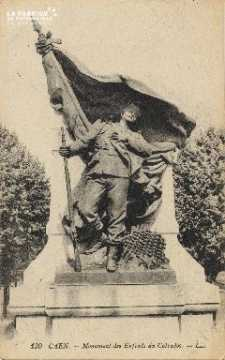 cl 01 208 Caen- monument des enfants du calvados