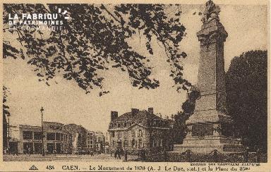 cl 01 214 Caen- le monumen de 1870 et la place du 36ème
