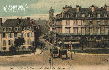 cl 01 215 Caen la place Alexandre III, et la rue St Jean