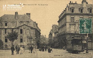 cl 01 216 Caen la place Alexandre III, et la rue St Jean