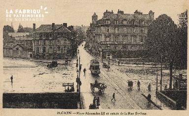 cl 01 219 Caen la place Alexandre III, et la rue St Jean
