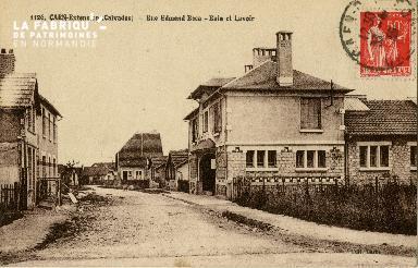 c 02 230 Caen-Extention- Rue Edmend Beca - Bain et lavoir