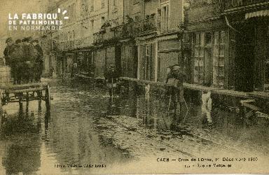 cl 02 001 Caen - Crue de l'Orne, 1er Décembre 1910- Rue de Vaucelles