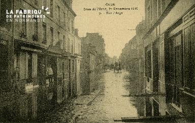 cl 02 003 Caen - Crue de l'Orne, 1er Décembre 1910- Rue d' Auge