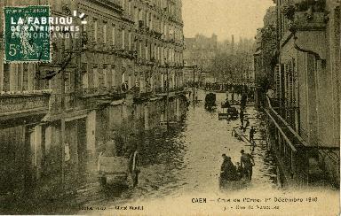 cl 02 006 Caen - Crue de l'Orne, 1er Décembre 1910- Rue de Vaucelles