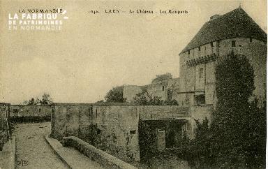 cl 02 038 Caen- le château - les remparts