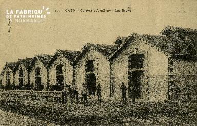 Les écuries de la caserne d'artillerie de Caen