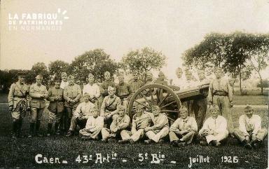 cl 02 063 Caen - 43ème Artillerie- 5 juillet 1925