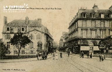 cl 02 074 Caen - La Place Alexandre III et la rue St-Jean