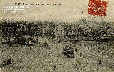 cl 02 078 Caen - La Place Alexandre III et pont de Vaucelles