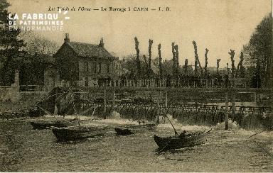 cl 02 094 Les Bord de l'Orne- Le barrege à Caen