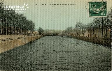 cl 02 096 Caen- le pont de la Gare et l'Orne