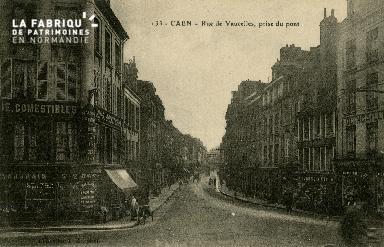 cl 02 111 Caen- rue de Vaucelles, prise du pont