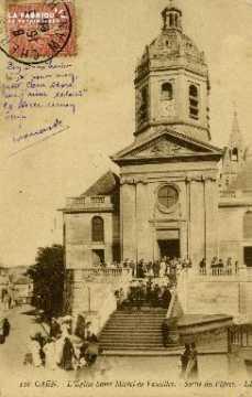 cl 02 120 Caen - L'Eglise St-Michel de Vaucelles- Sortie des vépres