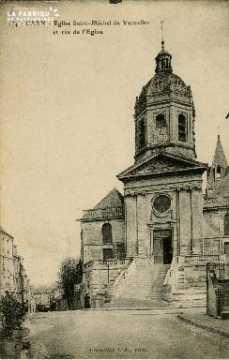 cl 02 131  Eglise St-Michel de Vaucelles et rue de l'Eglise