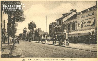 cl 02 146 Caen- Rue de Falaise et Hotel de Falaise
