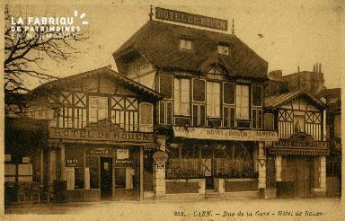 cl 02 171 Caen - Rue de la Gare - Hotel de Rouen