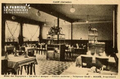 cl 02 174  Caen - Hotel des Voyageurs- Salle à Manger- Confort moderne