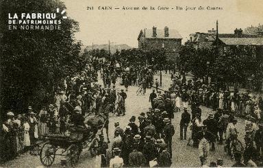 cl 02 182 Caen - Avenue de la Gare - Un jour de Course
