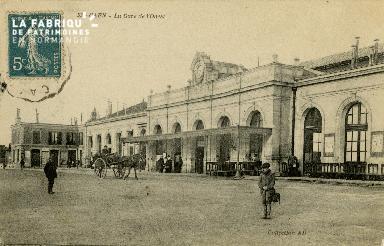 cl 02 184 Caen - La gare de l'Ouest