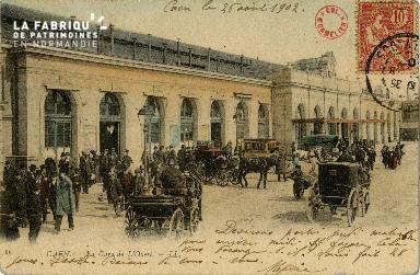 cl 02 185 Caen - La gare de l'Ouest