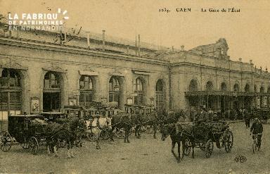 cl 02 186 Caen - La gare de l'Etat