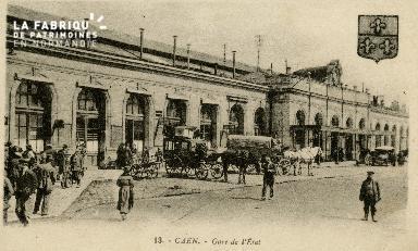 cl 02 188 Caen - La gare de l'Etat