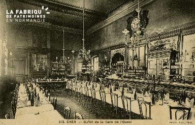 cl 02 194 Caen -Buffet de La gare de l'Etat