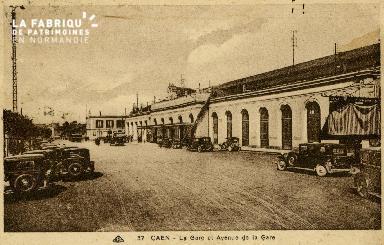 cl 02 198 Caen- la gare et avenue de la gare