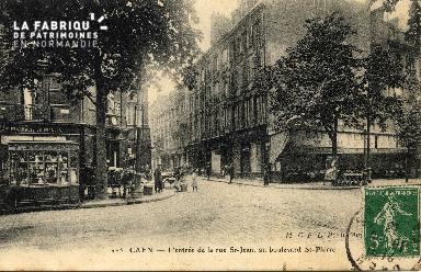cl 03 006 Caen - l'entrée de la rue St-Jean, au boulevard St-Pierre