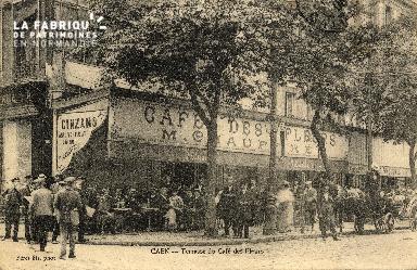 cl 03 007 Caen- terrasse au café des fleurs