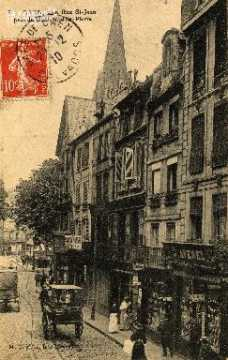 cl 03 014 Caen - la rue St-Jean prés du boulevard St-Pierre