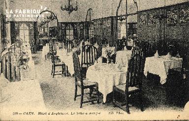 cl 03 021 Caen - Hotel d'Angleterre, la salle à manger