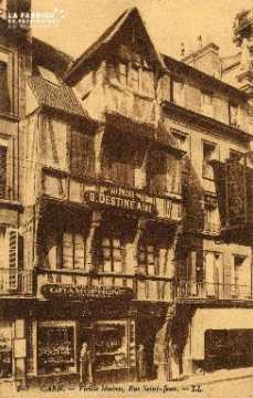 cl 03 036 Caen- Vieille maison Rue St-Jean