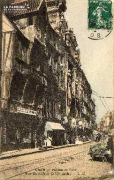 cl 03 039 Caen Maison de bois rue St-Jean prés de la rue de Bernières