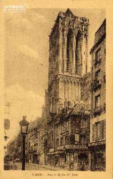 cl 03 053 Caen- rue et église St-Jean